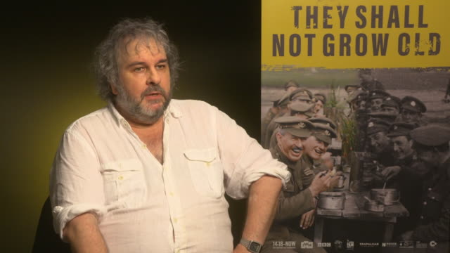 GBR: 'They Shall Not Grow Old' Interviews - 62nd BFI London Film Festival