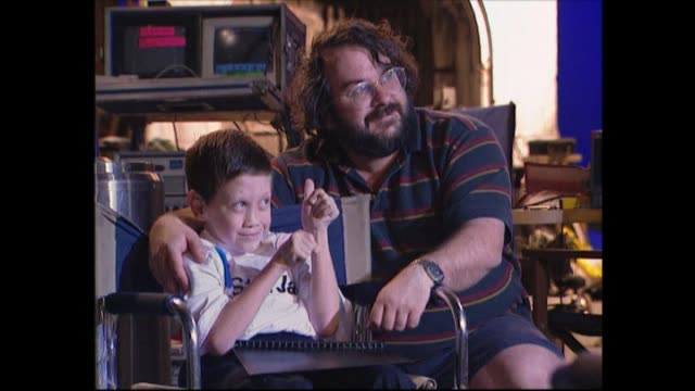 Peter Jackson speaking to disabled child Anthony Jellyman about whether his age of nine years old is suitable to watch the Lord of the Rings films...