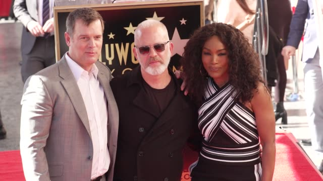Peter Krause Ryan Murphy Angela Bassett at the Ryan Murphy Honored with a Star on the Hollywood Walk of Fame on December 4 2018 in Hollywood...