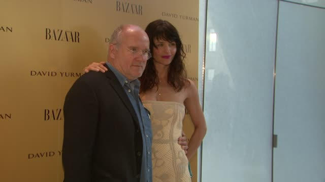 Peter Lindbergh and Helena Christensen at the Harper's Bazaar Celebrates Peter Lindbergh and Holly Fisher's New Film Everywhere At Once at Borough of...