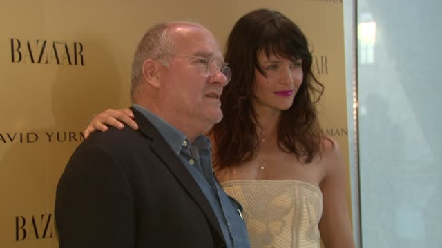 "peter lindbergh and helena christensen at the harper's bazaar celebrates peter lindbergh and holly fisher's new film ""everywhere at once"" at borough... - community college stock videos & royalty-free footage"
