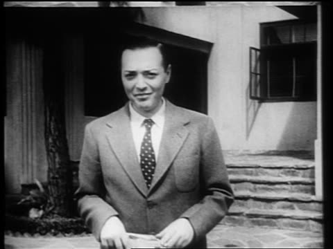 peter lorre standing outdoors smiling waving / documentary - one mid adult man only stock videos & royalty-free footage