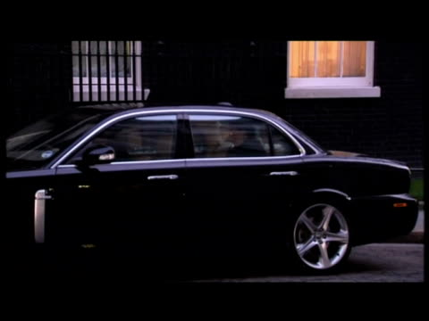 peter mandelson business secretary out of car and into 10 downing street for cabinet meeting - gordon brown stock videos & royalty-free footage