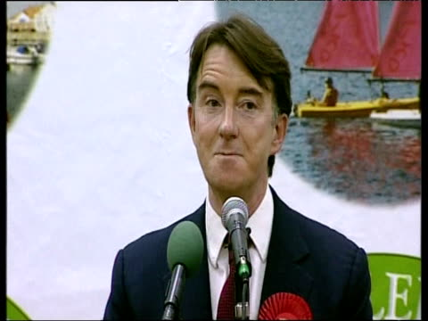 stockvideo's en b-roll-footage met peter mandelson mp talks about being - peter mandelson