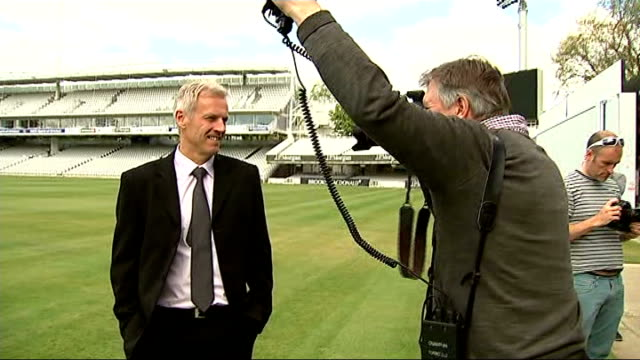Peter Moores confirmed as national head coach for a second time ENGLAND London Lord's Cricket Ground EXT Various shots of Peter Moores posing for...