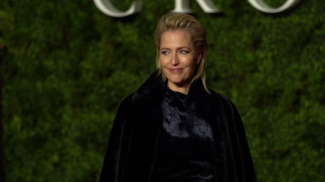 peter morgan and gillian anderson at 'the crown: season three' world premiere at the curzon mayfair on november 13, 2019 in london, england. - première stock videos & royalty-free footage