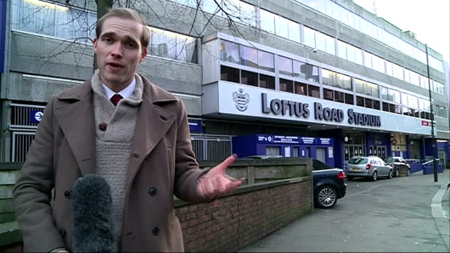 vidéos et rushes de peter odemwingie embarrased after failure to make transfer to qpr london loftus road reporter to camera - embarras