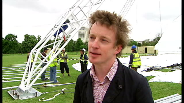 peter pan to be performed at kensington gardens kensington gardens ext ben harrison interview sot want to remove gloss of pantomime various shots of... - pavilion stock videos and b-roll footage