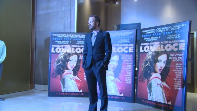 vídeos y material grabado en eventos de stock de peter sarsgaard at 'lovelace' special screening at the mayfair hotel on august 12, 2013 in london, england - peter sarsgaard