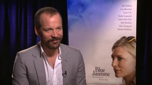 vídeos y material grabado en eventos de stock de peter sarsgaard on the toughest thing for him about making the film at the 'blue jasmine' los angeles press junket. interview - peter sarsgaard on... - peter sarsgaard
