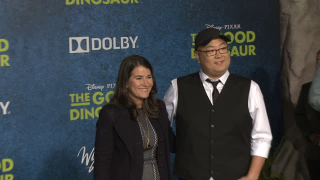 peter sohn at the good dinosaur world premiere at the el capitan theatre on november 17 2015 in hollywood california - el capitan theatre stock videos and b-roll footage