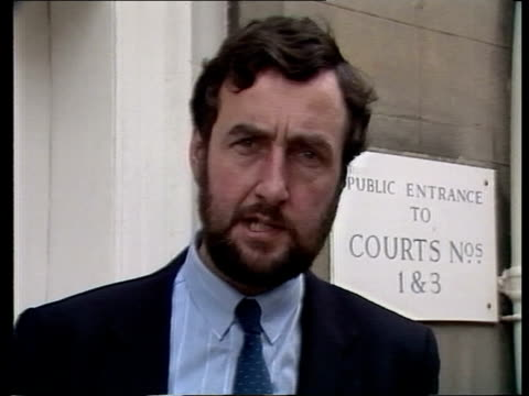 "peter sutcliffe appears at court in newport; england: isle of wight: newport magistrates court: ken rees sof: -- are so low"" tms police and sutcliffe... - フリーズフレーム点の映像素材/bロール"