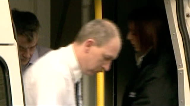 peter tobin convicted of sexual assault and murder of schoolgirl in 1991 november 2007 tobin led along by police - linlithgow stock videos and b-roll footage