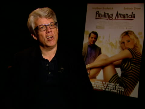 peter tolan on why brittany snow was chosen for the part at the finding amanda press junket at new york ny. - peter snow stock videos & royalty-free footage