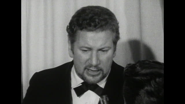 peter ustinov - interview - state of the movie business - peter ustinov stock videos & royalty-free footage