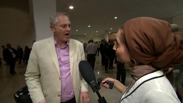 labour wins seat england cambridgeshire peterborough int stewart jackson interview sot richard tice mep interview sot - 補欠選挙点の映像素材/bロール