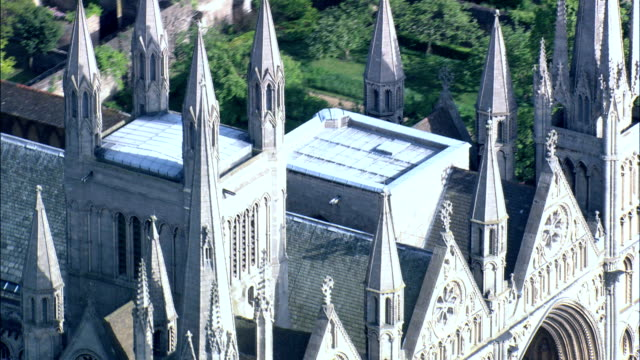 Peterborough Cathedral  - Aerial View - England,  Peterborough,  United Kingdom