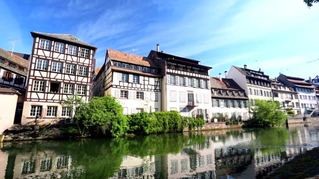 petite france in strasbourg - strasbourg stock videos & royalty-free footage