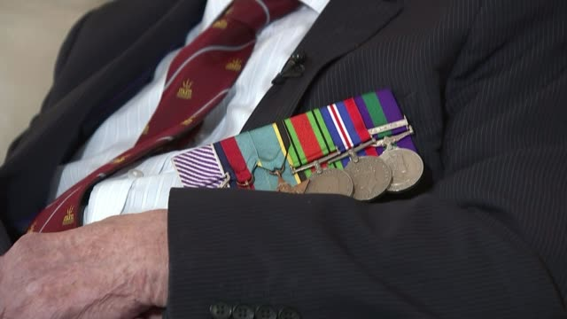 petition calls for last surviving british dambuster to be knighted; int george 'johnny' johnson interview sot/ downing street: ext carol vorderman... - carol vorderman stock videos & royalty-free footage