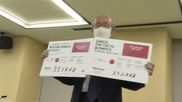 petition to cancel the tokyo olympics with more than 351,000 signatures was submitted to the city's governor on friday, with its organiser urging... - petition stock videos & royalty-free footage