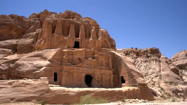 petra - bab a siq, jordan - 4th century bc stock videos and b-roll footage