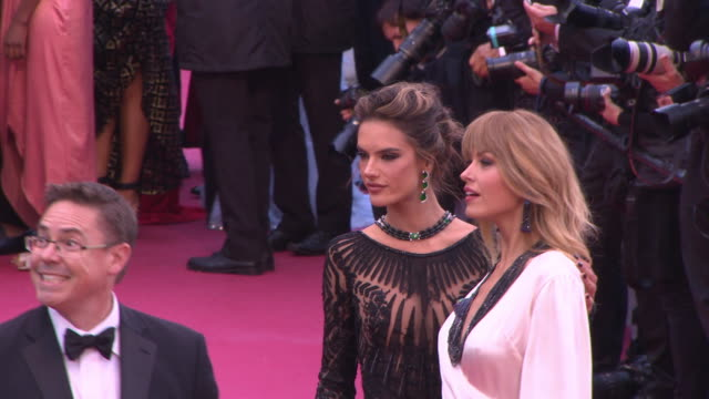 Petra Nemcova Alessandra Ambrosio at Blackkklansmann Red Carpet Arrivals The 71st Cannes Film Festival at Grand Theatre Lumiere on May 14 2018 in...