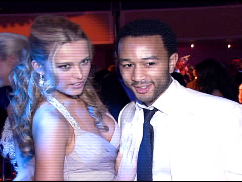 petra nemcova and john legend at the denise rich marks 10th year of the gp foundation with an evening of stars and music at the 2007 angel ball at... - marriott marquis new york stock videos & royalty-free footage