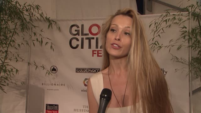 petra nemcova on toinght's event the collaborative effort of people around the world at global citizen festival in central park to end extreme... - great lawn stock videos and b-roll footage