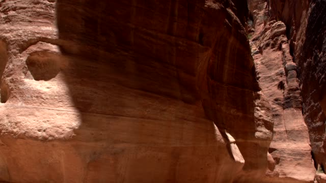 petra - the narrow passage (siq) that leads to petra, jordan - 4th century bc stock videos and b-roll footage