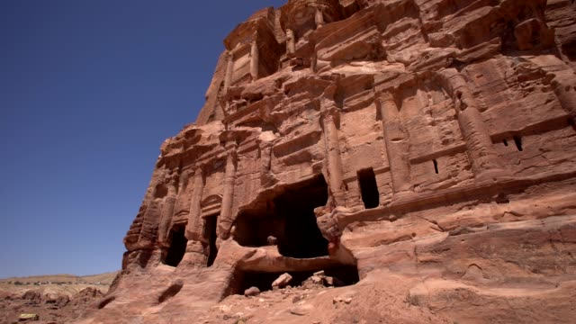 petra - tombs in the southern part of the city - 4th century bc stock videos and b-roll footage
