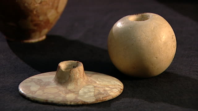 petrie museum. view of mace heads. - ancient stock videos & royalty-free footage