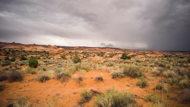 Petrified Dunes Storm, Moab, Travel and time-lapse through Utah