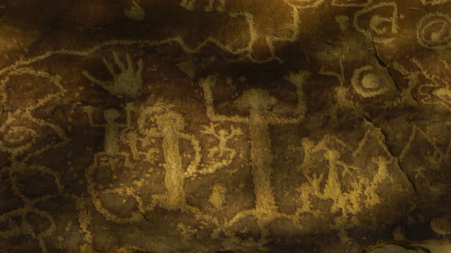 Petroglyph, Mesa Verde National Park, Unesco World Heritage, Colorado, Usa, North America, America