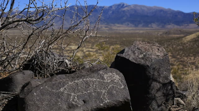 petroglyphs - cave painting stock videos & royalty-free footage