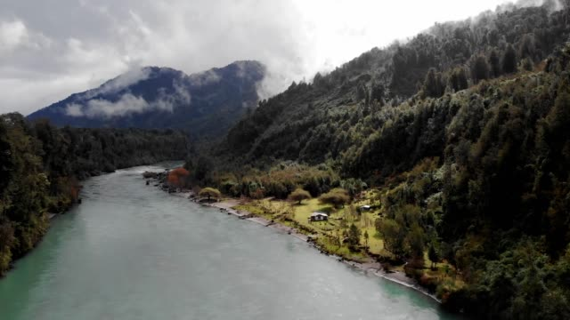 petrohue river in los lagos region, southern chile - chile stock videos & royalty-free footage