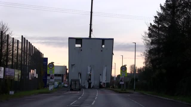vidéos et rushes de a petrol station's forecourt roof has been torn down in one of a series of atm raids in northern ireland in the other attacks a cash machine was... - rip torn