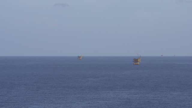 petroleum platform in the ocean