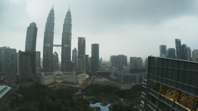 petrona towers timelapse. hd. kuala lumpur. malaysia - menara kuala lumpur tower stock videos & royalty-free footage