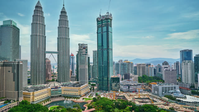 Petronas Tower and cityscape