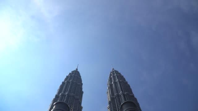 petronas towers - petronas twin towers stock videos & royalty-free footage