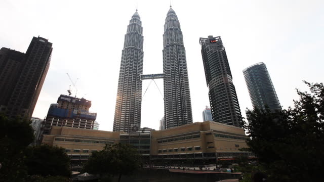 Petronas Towers wide low angle