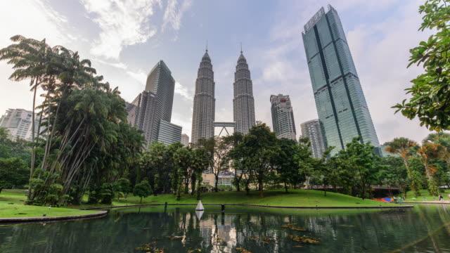 petronas twin tower / kuala lumpur, malaysia - petronas twin towers stock videos & royalty-free footage