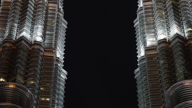 petronas twin towers, kuala lumpur, malaysia - petronas twin towers stock videos & royalty-free footage