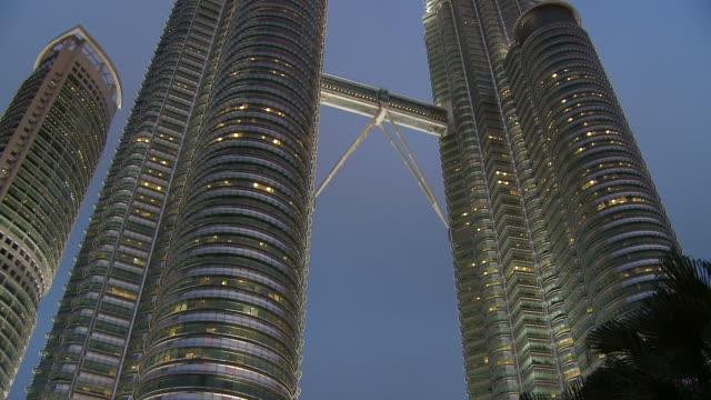petronas twin towers - kuala lumpur, malaysia - petronas twin towers stock videos and b-roll footage