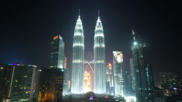 petronas twin towers - petronas twin towers stock videos and b-roll footage