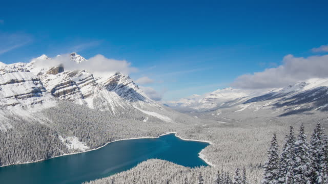 Peyto Lake at snow time