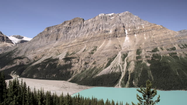 peyto lake, banff national park, canada - sedimentary rock stock videos & royalty-free footage
