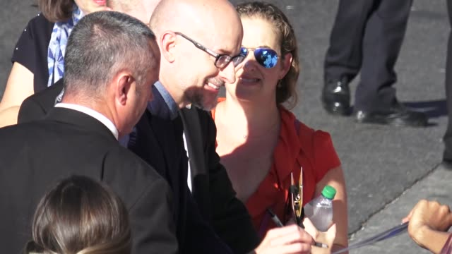 Peyton Reed signs for fans outside the AntMan and the Wasp premiere in Hollywood in Celebrity Sightings in Los Angeles
