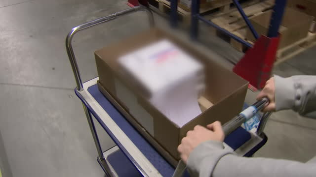 pfizer biontech vaccines being taken from storage facility to be sent out to gp surgeries for the vaccination roll out programme - europe stock videos & royalty-free footage