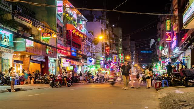 pham ngu lao street ho chi minh city - busy stock videos & royalty-free footage